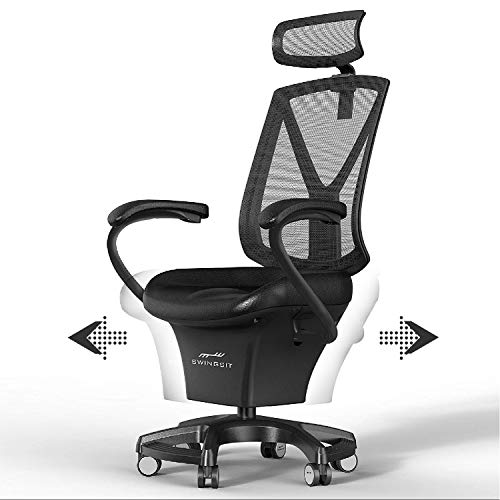 SWINGSIT Active Sitting Chair, Ergonomic Home & Office, Get Fit and Stay Active while Sitting, Burn Calories, Memory Foam Seating, Stationary Lock When Sitting [F Series]