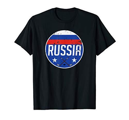 Russia Ice Hockey Flag Jersey Supporter Soviet Fan Gift T-Shirt