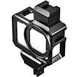 Aluminum Housing Cage for Gopro 9, Ulanzi G9-5 Metal Housing Cage Protective Case Frame Shell for Gopro Hero 9-5 with Cold Shoe Mount Compatible with Tripod Selfie Stick