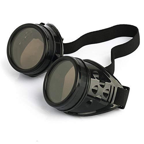 DIVISTAR Vintage Steampunk Goggles Glasses Cyber Punk Gothic, Black steampunk buy now online