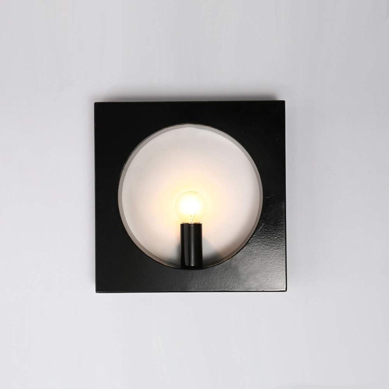 HDLWIS LED Wandleuchte Licht, Moderne Wandleuchten, Schmiedeeisenlackkrper Licht für Restaurant Wohnzimmer Badezimmer Spiegel, warmes Licht, 7W,6024schwarz