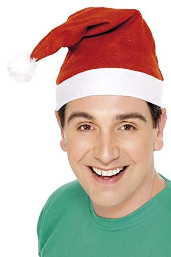 Smiffys Gorro de Papá Noel, Rojo