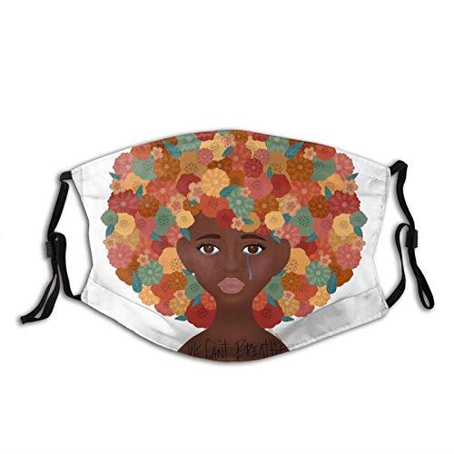We Can't Breath - Máscara facial unisex para pasamontañas con filtro, resistente al viento, a prueba de polvo, máscara ajustable