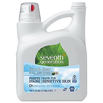 Seventh Generation 22803 Natural 2X Concentrate Liquid Laundry Detergent Free & Clear 99 loads 150oz