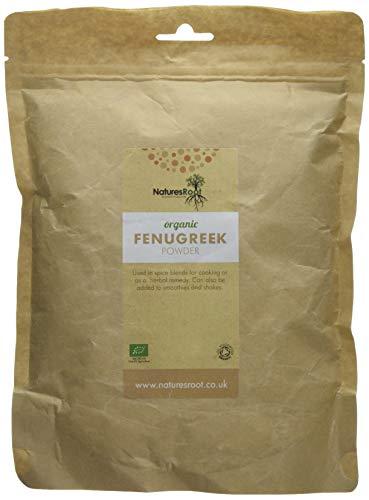 Natures Root Biologisches Bockshornklee Pulver 500g - Methi Pulver | Natürliches Nahrungsergänzungsmittel auf Kräuterbasis | Unverarbeitetes Superfood