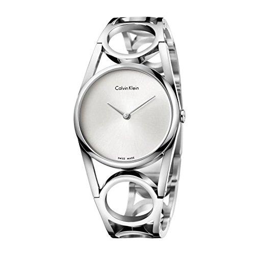 Calvin Klein Reloj Analogico para Mujer de Cuarzo con Correa en Acero Inoxidable K5U2S146