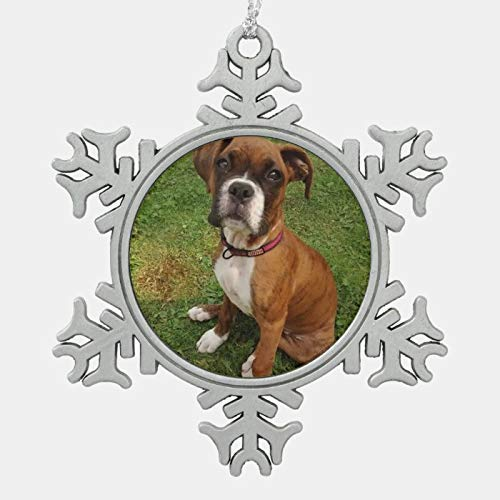 Christmas Ornament, Boxer Dog Ornament, Xmas Tree Hanging Decorations, Home Decor, Keepsake Gift, 3 Snowflake Ornament
