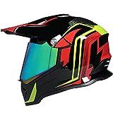 Casco Motocross Homologado ECE Con Visera De Color Casco De Moto Cross Integral Casco Todoterreno Downhill Casco Deportivo Off Road Casco Enduro Para Mujer Y Hombre Adultos B,S