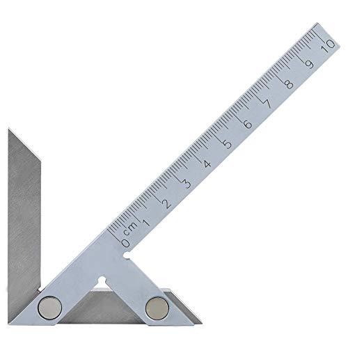 NITRIP Acero 4-90 mm Medidor de ángulo central Centrado Portátil Medidor de ángulo cuadrado Regla(100x70mm)