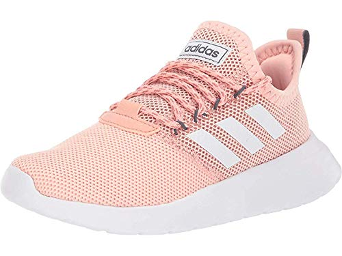 adidas Women's Lite Racer RBN Running Shoe, Glow Pink/White/Onix, 7.5 M US