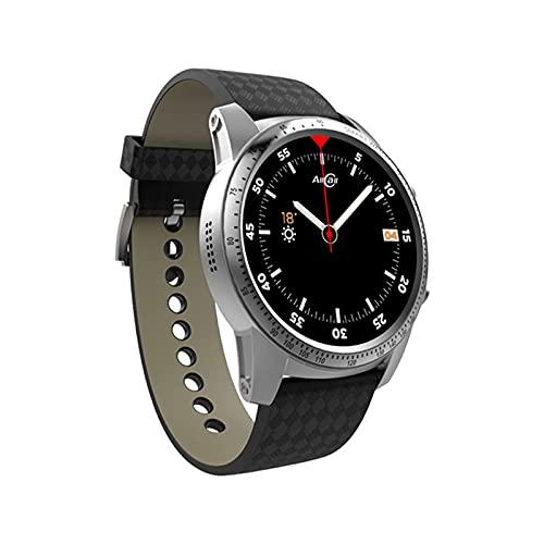 L.B.S Reloj Inteligente 3G GPS AMOLED Reloj Inteligente Moda Gloria Reloj Inteligente Señoras Hombres Amigos Amantes(B)