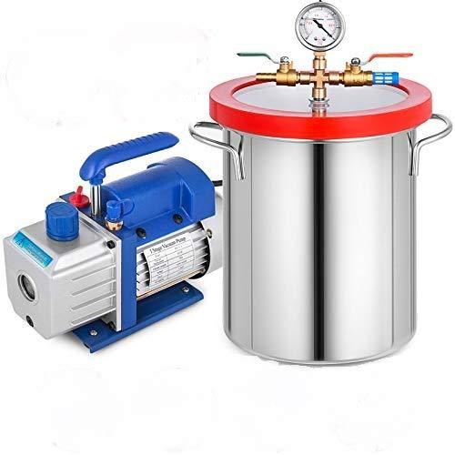 VEVOR Vakuumpumpe 3CFM Unterdruckpumpe Vakuumgeräte Pumpe 220V Vakuumpumpe Unterdruckpumpe