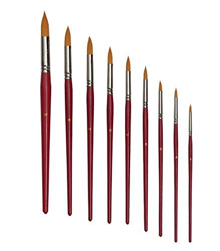9 Künstlerpinsel Set Spitzpinsel spitz Pinsel Pinselset Acrylfarben Aquarellfarben für Acrylpinsel Aquarellpinsel