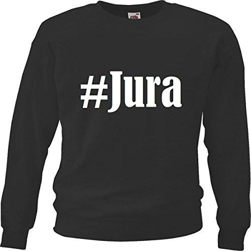 Reifen-Markt Sweatshirt Damen #Jura Größe L Farbe Schwarz Druck Weiss