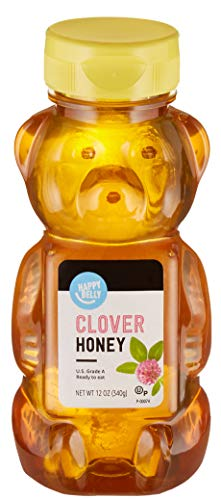 Amazon Brand  Happy Belly Clover Honey 12 Ounce