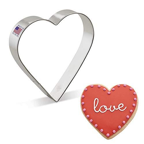 Ann Clark Cookie Cutters Cortador de galletas corazón extragrande - 12,7 cm - Acero fabricado en EE.UU.
