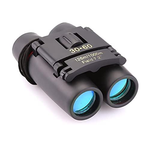 LYYDAN Binocolo con visione notturna, 30 × 60 HD, piccolo, compatto, impermeabile, con prisma Bak4 e rivestimento FMC per osservazione degli uccelli, viaggi, partite di calcio