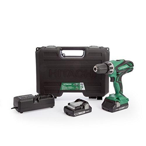 Hitachi DV 18 DGL / JM Impact Drill 18 V in Case + 2x Hitachi BSL 1830 C 3.0 Ah Batteries + 1x Hitachi UC 18YKSL 14.4 - 18 V Charger