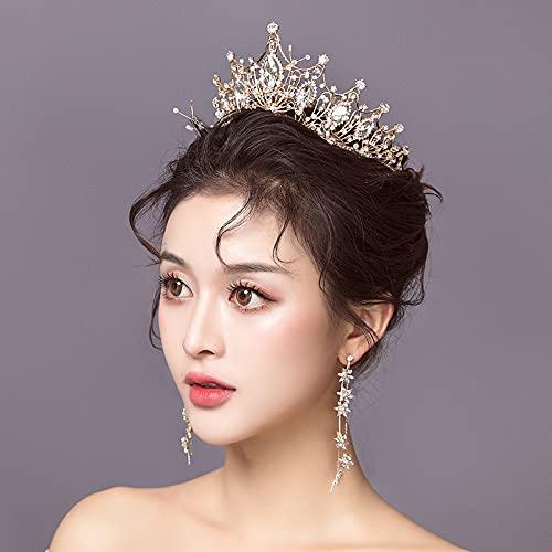 Hwjmy Boda cabeza decoración corona vestido blanco hilo accesorios Europa y América atmosférica nueva madre accesorios para el pelo (color: 1)