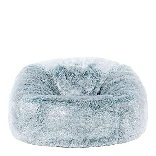 """Icon Sitzsack aus Kunstpelz """"Gefroren"""" für Kinder, Blau, Sitzsäcke für Kinder, 65cm x 45cm, Groß, Sitzsäcke für das Wohnzimmer, Schlafzimmer, Kunstpelz"""