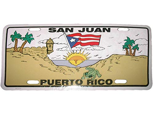 Inga San Juan Puerto Rico Aluminum License Plate License Plate 6x12 inches
