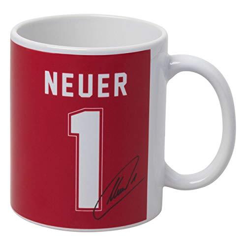 Neuer Bayern MÜNCHEN Tasse Manuel Munich + Sticker München Forever, Spüchetasse Kaffeetasse Kaffeebecher Cup Mug