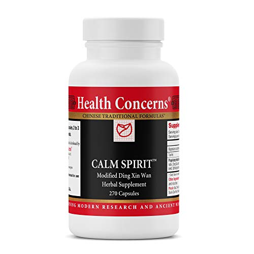 Health Concerns - Calm Spirit - Modified Ding Xin Wan - Chinese Herbal Supplement - Helps Alleviate Stress-Associated Emotions - with Taurine - 270 Count