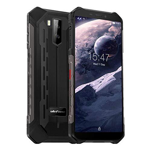Rugged Mobile Phone, Ulefone Armor X5 Pro SIM Free Unlocked, 4GB RAM 64GB ROM, Octa-core, Android 10, 13MP Waterproof Camera, 5000mAh Battery, 5.5 inch, 4G Dual SIM, NFC, OTG, Face ID, Black