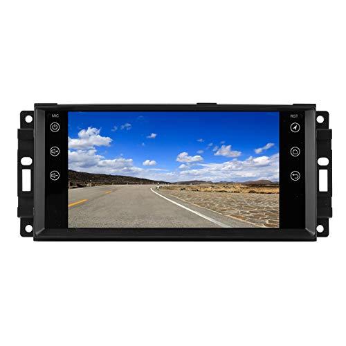Qiilu 7in navegación con pantalla táctil 1 + 16G para Android 9,1 Radio GPS para coche reproductor de música Bluetooth apto para Jeep Compass