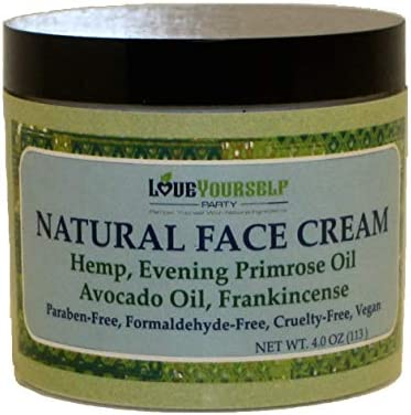 Love Yourself Party Natural Face Cream Hemp Moisturizer Anti Aging Wrinkle Frankincense Evening product image