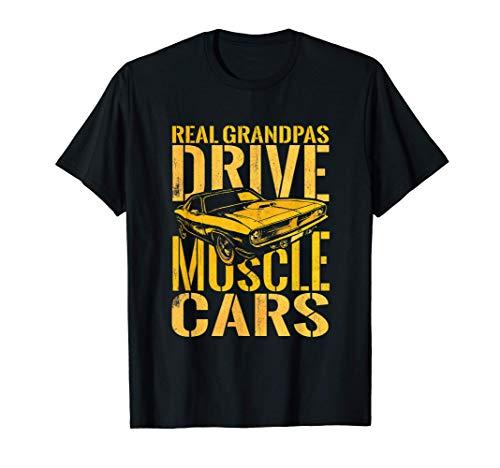 Real Grandpas Drive Muscle Cars Retro Clásico Músculo Camiseta