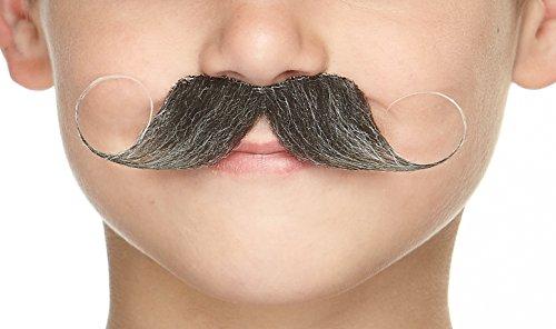 Mustaches Selbstklebende Kleiner Imperial Fälschen Schnurrbart für Kinder Salz und Pfeffer Farbe