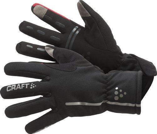 Craft - Guantes impermeables, contraviento, para adultos, unisex, Multicolor (9430 Noir/Rouge), talla X-Small