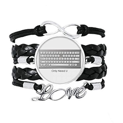 DIYthinker Programmer Keyboard Only Need U Armband Love Accessory Twisted Leder Strickseil Armband Geschenk