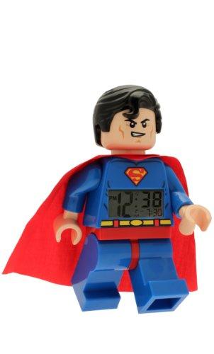 Despertador con luz Infantil con Figurita de Supermán de LEGO DC Comics...