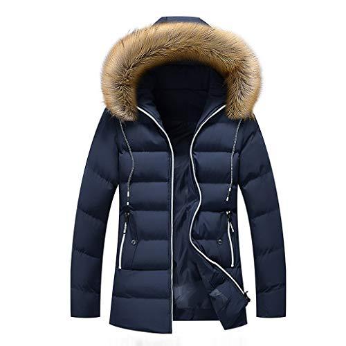 Plot Herren Winterjacke Warm Steppjacke mit Kapuze Fellkragen Leicht Stepp Jacken Winter Warm Outdoor Casual Kapuzenjacke Outwear Coat