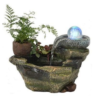 WYDZSM Desktop Brunnen Wasserfall Dekoration Steingarten Glücksbrunnen Bonsai Wohnzimmer Dekoration Büro Chinesischen Südostasien