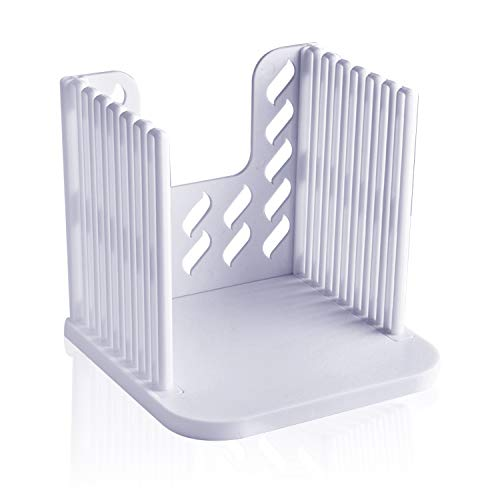 Akamino bread slicer, Bread slicers for Homemade Bread, Folding and Adjustable thicknesses Bread Cutter(White)