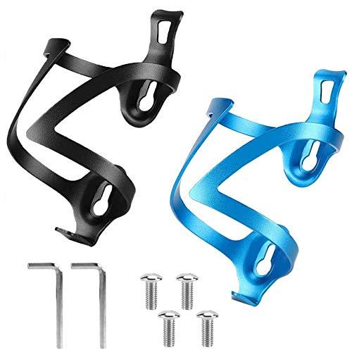 Puosike Fahrrad Getränkehalter 2 Pack, Mountainbike-Fahrrad Flaschenhalter, Leichter und starker Flaschenhalter, Robuster Aluminium Getränkehalter für Mountain- und Kinderfahrräder