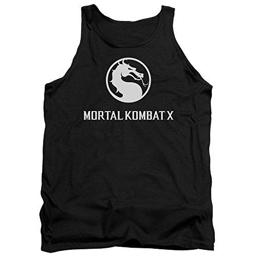 Mortal Kombat - - Dragon Logo Hommes Débardeur, Medium, Black