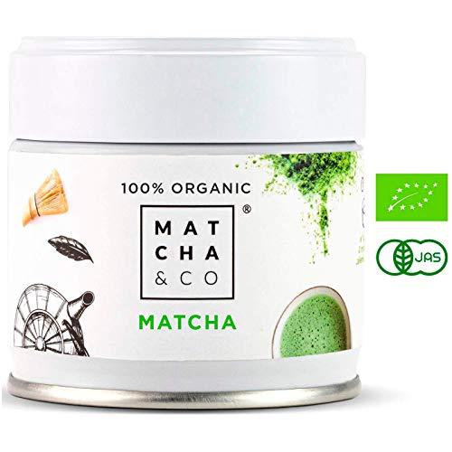 Matcha 100% Ecológico 30 g | Té verde polvo Orgánico