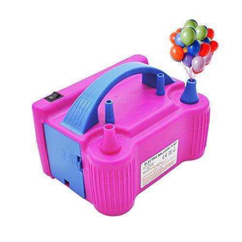 Elektrische Ballonluftpumpe, tragbare Hochleistungs-Inflator-Gebläsepumpe mit doppelter Düse und hoher Leistung (AC220-240V 600 W) für Party, Hochzeit, Geburtstag, Aktivitäten und Festivaldekoration