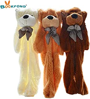60Cm to 200Cm Giant Unstuffed Empty Teddy Bear Bearskin Coat Soft Big Skin Shell Semi-Finished Plush Toys Soft Kid Doll Must Haves for Kids Gift Tags Girl S Favourite