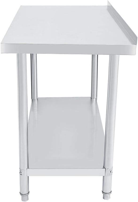 2-lagig Picknicktisch Catering-Schreibtisch f/ür die Arbeit Operationstisch Plattform robuste Arbeitstisch Edelstahl Lebensmittelzubereitung K/üche 61 x 61 x 85 cm lyrlody- Catering-Tisch