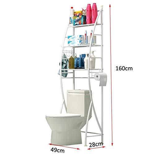 Waschmaschine Regal Metall in der Toilette Speichereinheit Metallgestell Regal Eisen Regal Haushaltshandtuchhalter, Bodenmontage Bad Abstellraum, Bad und WC Veranstalter Raum Helfer Rack (Size : B)