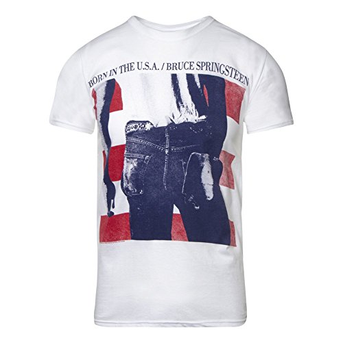 Bruce Springsteen USA T Shirt (Weiß) - XX-Large