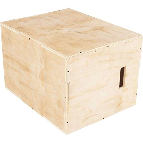 GORILLA SPORTS® Plyo-Box Holz 60 x 50,5 x 75,5 cm – Sprungbox/Sprungkasten für plyometrisches Cross-Training bis 200 kg belastbar
