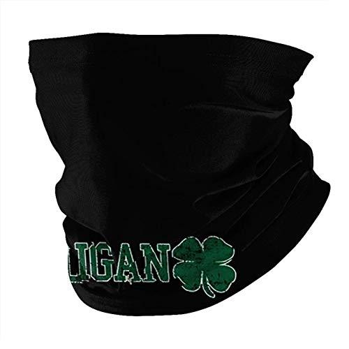 TUCBOA Headbands,Pasamontañas De Cuello Hoo-Ligan Irlandés, Calentadores De Cuello A Prueba De Arena para Esquí Atlético,25x50cm