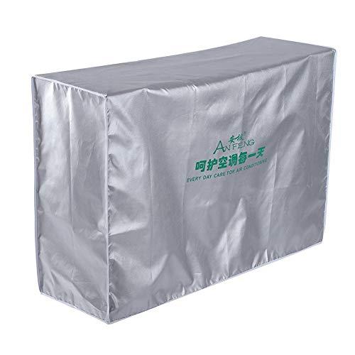 Hakeeta Copertura del condizionatore d'Aria per Le unità Esterne - Rivestimento in Poliestere Resistente Tessuto Resistente all'Acqua Design Antivento per la casa(3p (92 * 35 * 69))