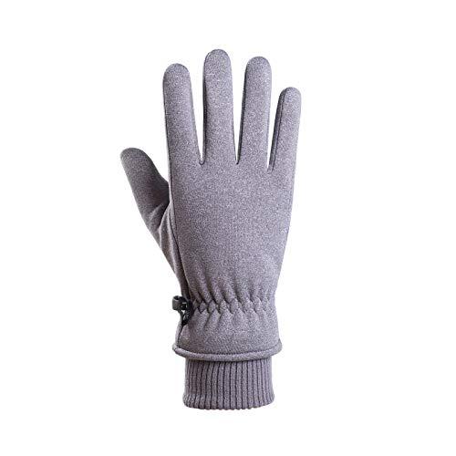 Men Winter Gloves Warm Touchscreen Gloves Windproof Gloves for Men, Winter Sports Equipment, for Christmas Day (Gray)